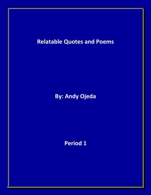 Copy of RELATABLE QUOTES AND POEMS