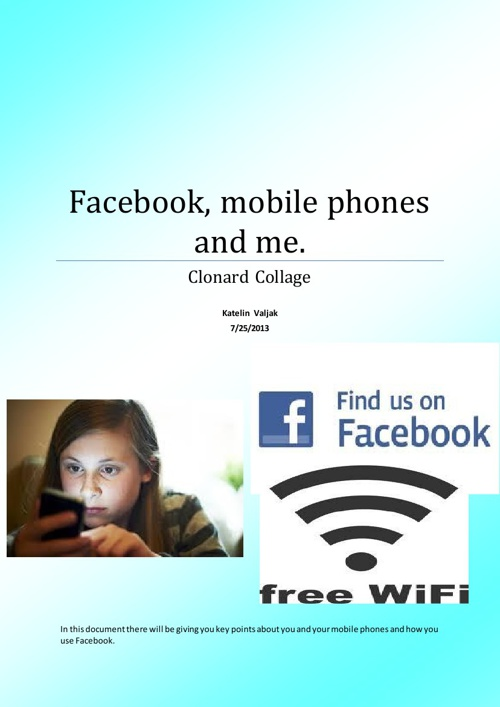 Facebook mobile phones and me!