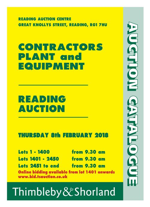 Contractors Plant Auction Catalogue