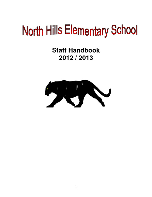 North Hills Elementary School Staff Handbook