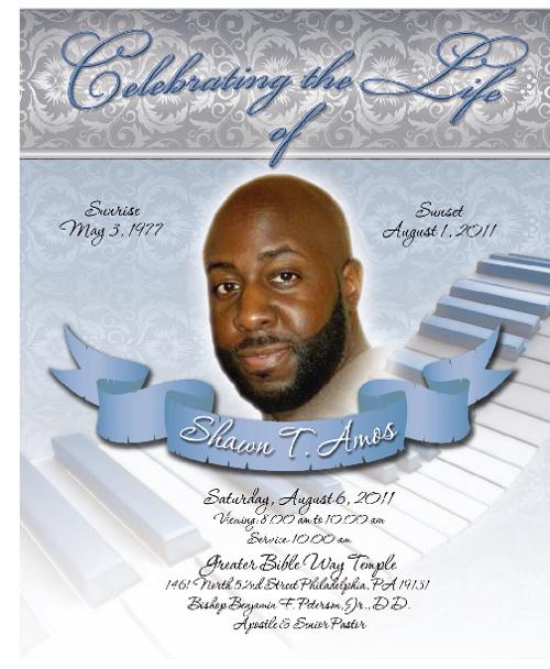 S. Amos Funeral Program