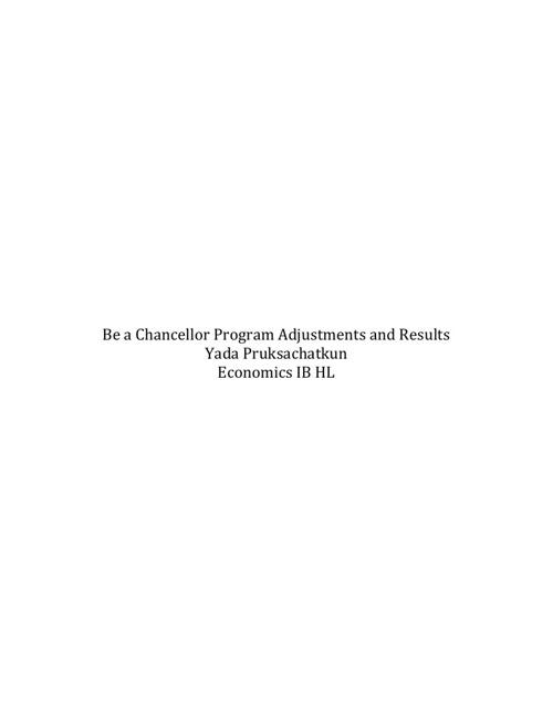 Be a Chancellor Paper