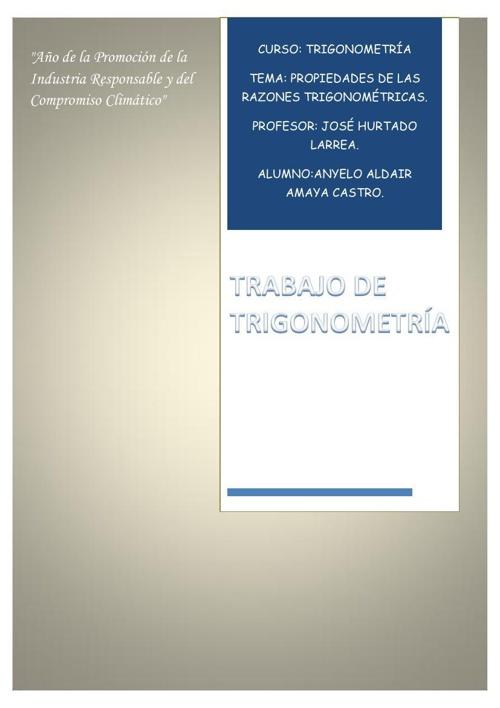 Tarea  de trigonometría II