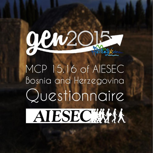 Questionnaire for MCP of AIESEC B&H 15-16