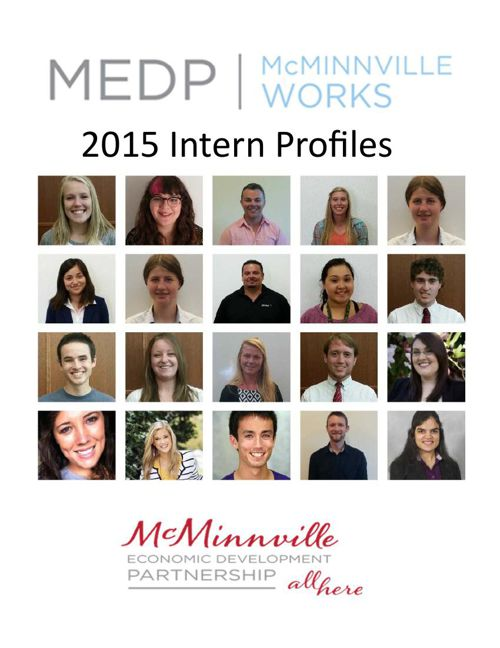 MEDP McMinnville Works - 2015 Intern Profiles