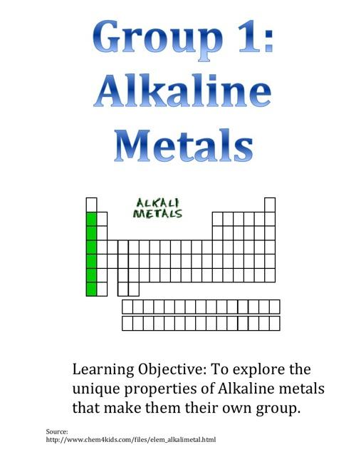 Alkaline Metals