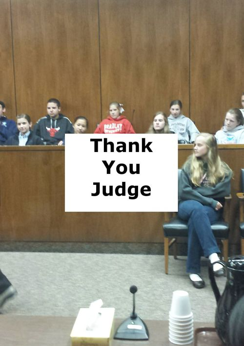 Thank You Judge Cusack