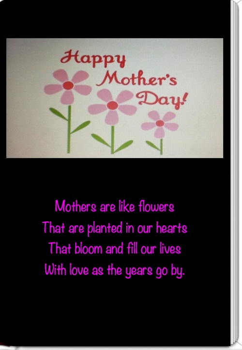Happy Mother's Day-Mrs. Cohn