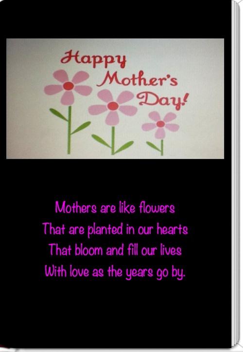 Happy Mother's Day-Mrs. Cohn