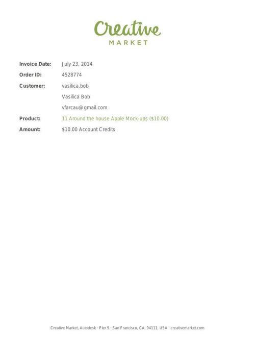 Creative Market Invoice (#4528774)