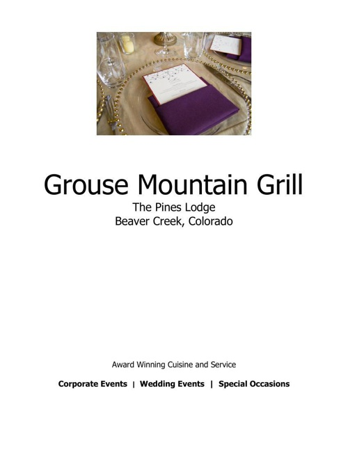 Event-Menu-Grouse Mountain Grill-spring-2014