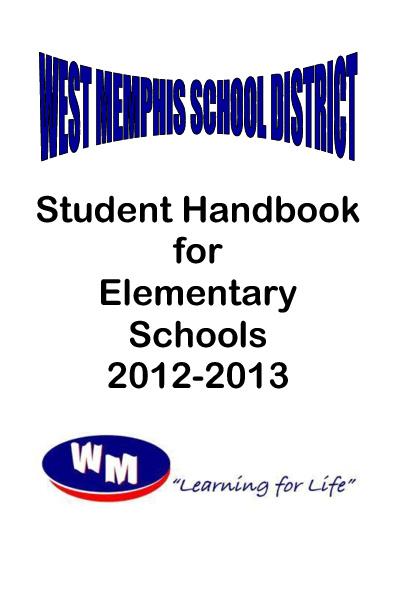 WMSD Elementary Student Handbook 2012-2013