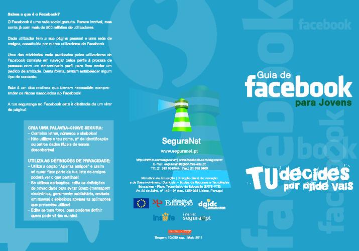 Guia de Facebook para jovens (internetsegura.pt)