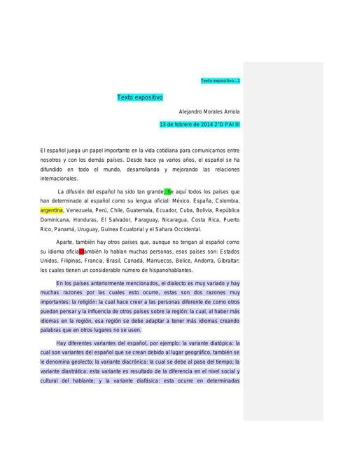 Alejandro Morales 2ºD Texto expositivo