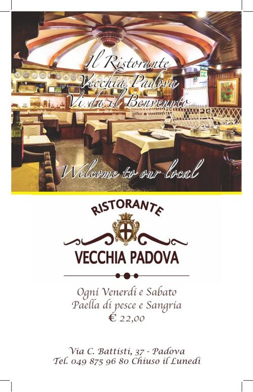 Menù Ristorante Vecchia Padova