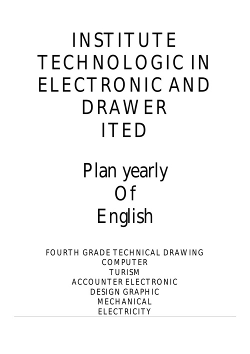 plan yearly of English Technical