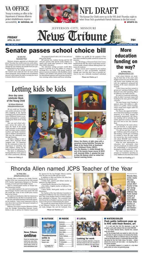 Jefferson City News Tribune daily