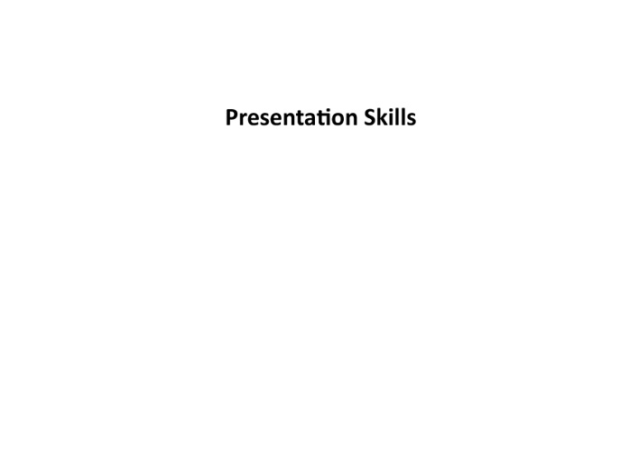 Presentation Skills Snacktools