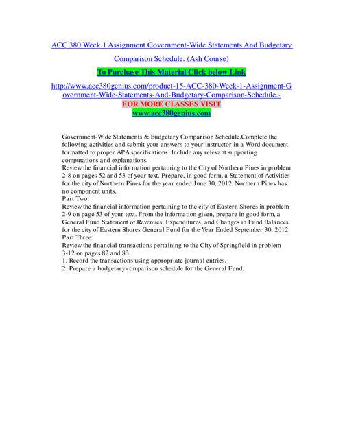 ACC 380 GENIUS EDUCATION EXPERT / acc380genius.com