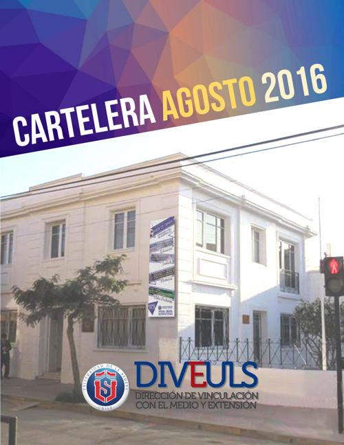 CARTELERA AGOSTO 2016