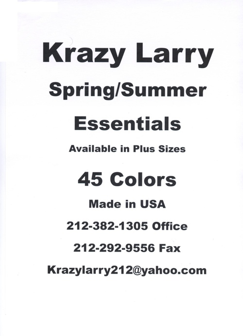 Krazy Larry 2014 Line Sheets