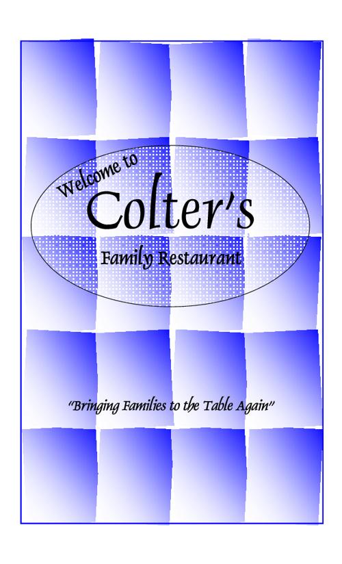 Colter's Menu