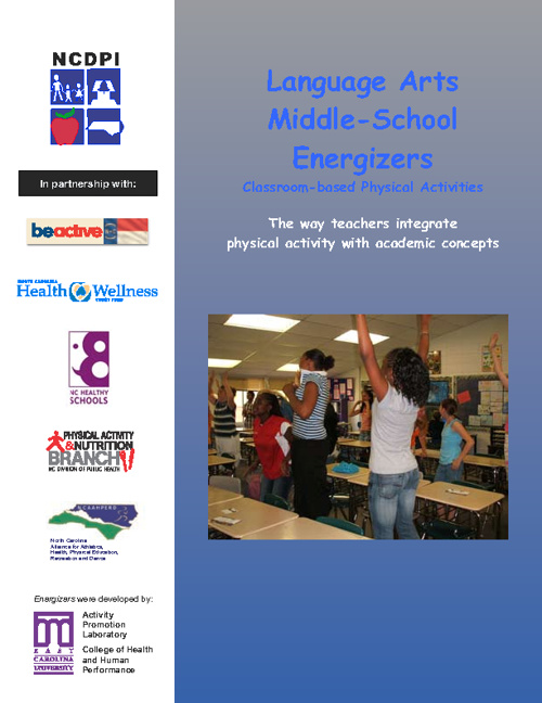 Language Arts Middle School Energizers