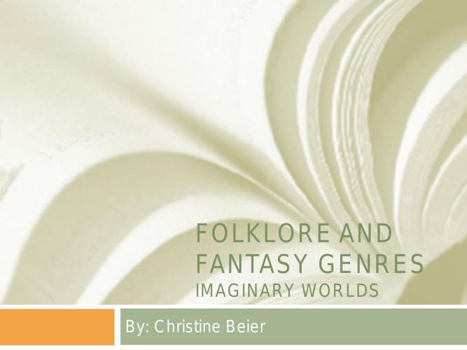Folklore AND Fantasy GENRES1