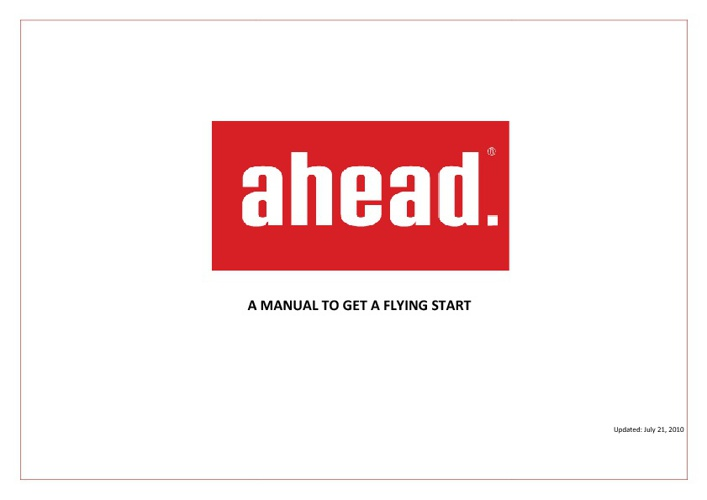 Ahead Manual