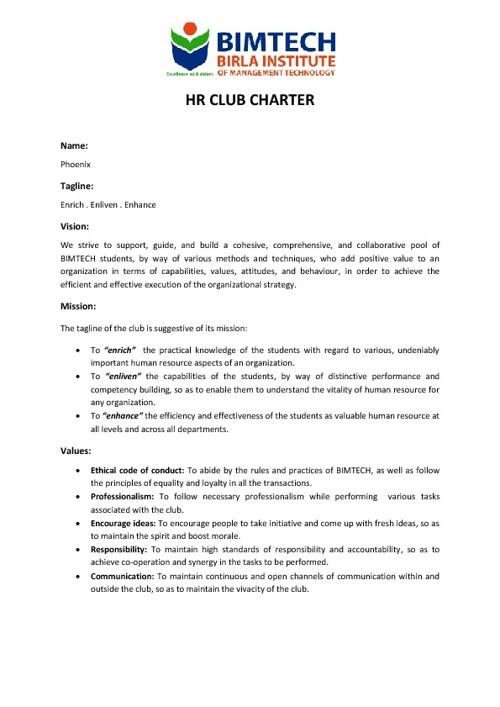 HR Club Charter