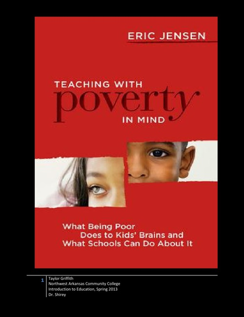 Teaching With Poverty In Mind By: Eric Jensen