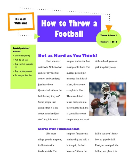 Copy of How to Throw a Football