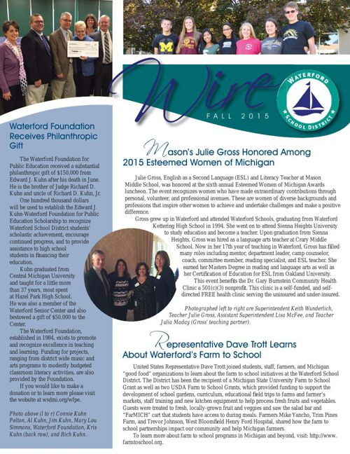 District Wire Newsletter Fall 2015