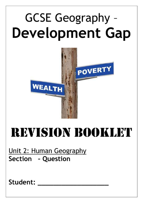Development Gap - Revision Booklet