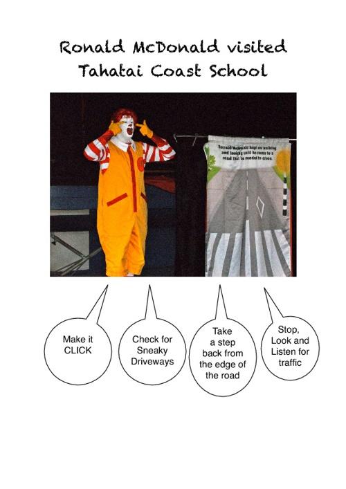 Ronald McDonald Visits Tahatai