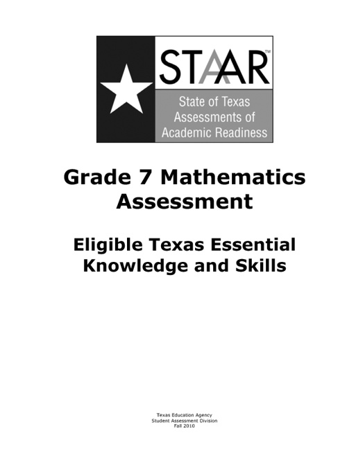 Assessed curriculum 7th math