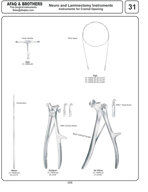 Afaq & Brothers Neuro and Laminectomy Instruments
