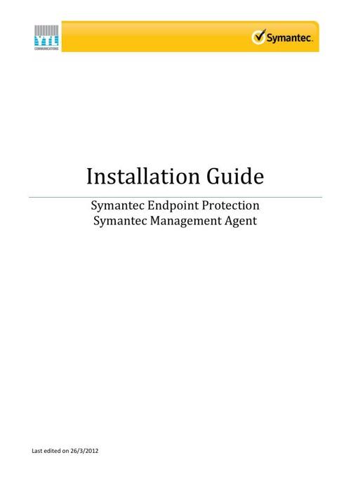Guideline - Symantec Installation AV-Client