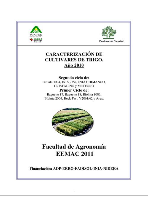 Informe Caracterización Trigo 2010