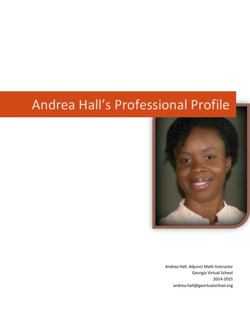 Andrea Hall Professional Profile FlipBook