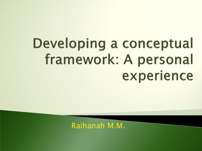 Developing a conceptual framework