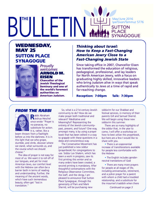 MAY-JUNE 2016 BULLETIN
