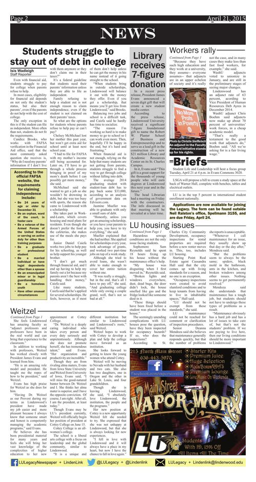 April 21 issue of the Legacy