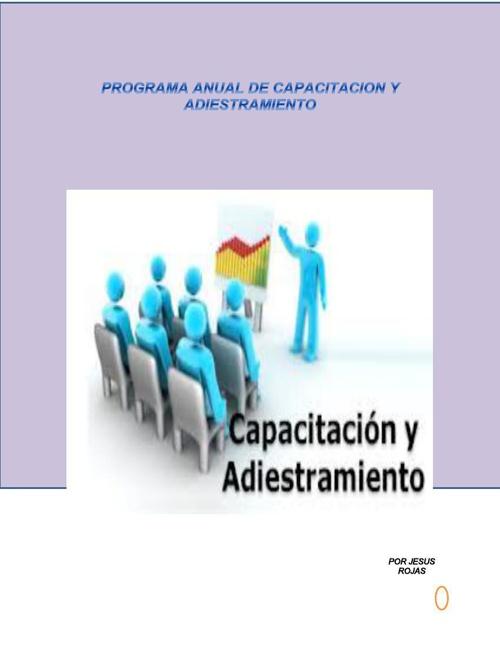 PROGRAMA ANUAL DE CAPACITACION Y ADIESTRAMIENTO