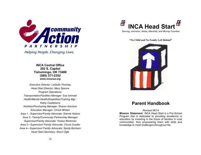 Head Start Parent Handbook  June 2014 (1)