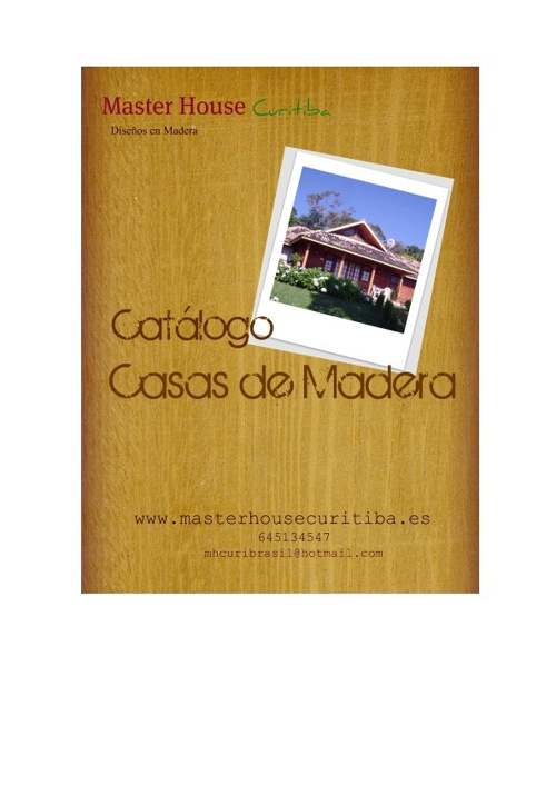 Catálogos Casas de Madera