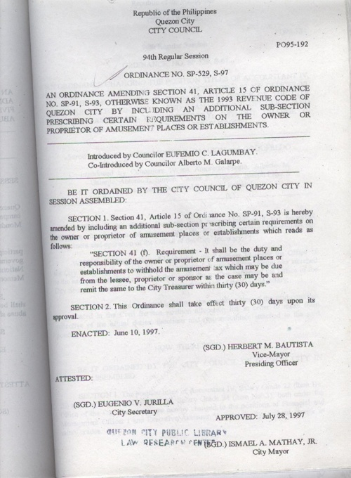 ORDINANCE 1997