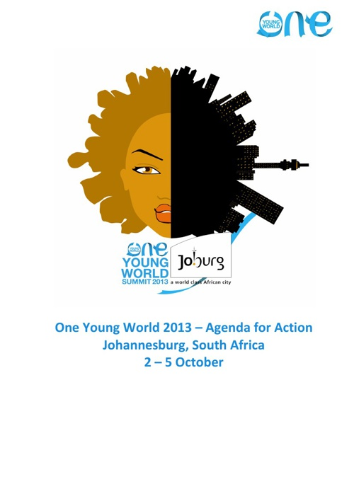Young World Summit 2013 full programme