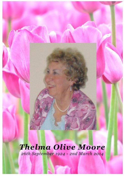 4 Order of Service for Thelma Olive Moore