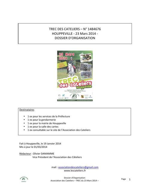 Dossier organisation TREC Houppeville 2014